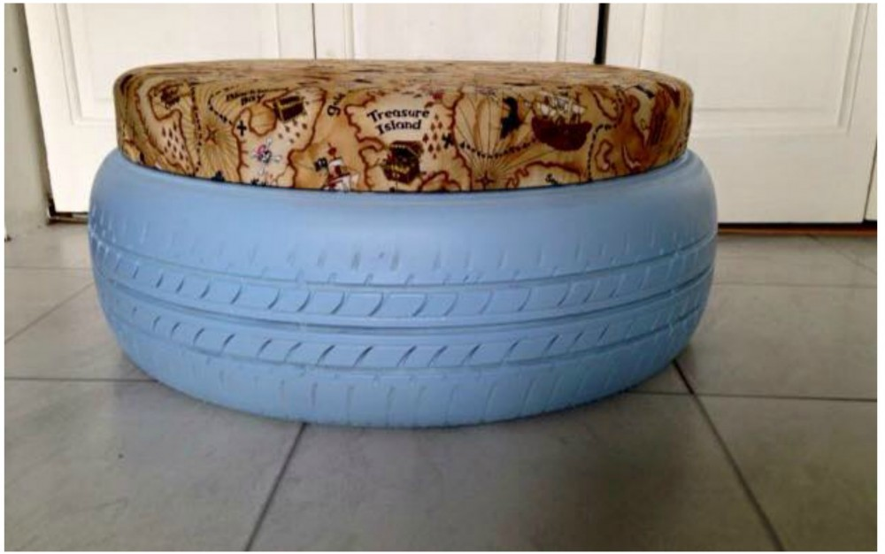 Becci's DIY Tyre Seating