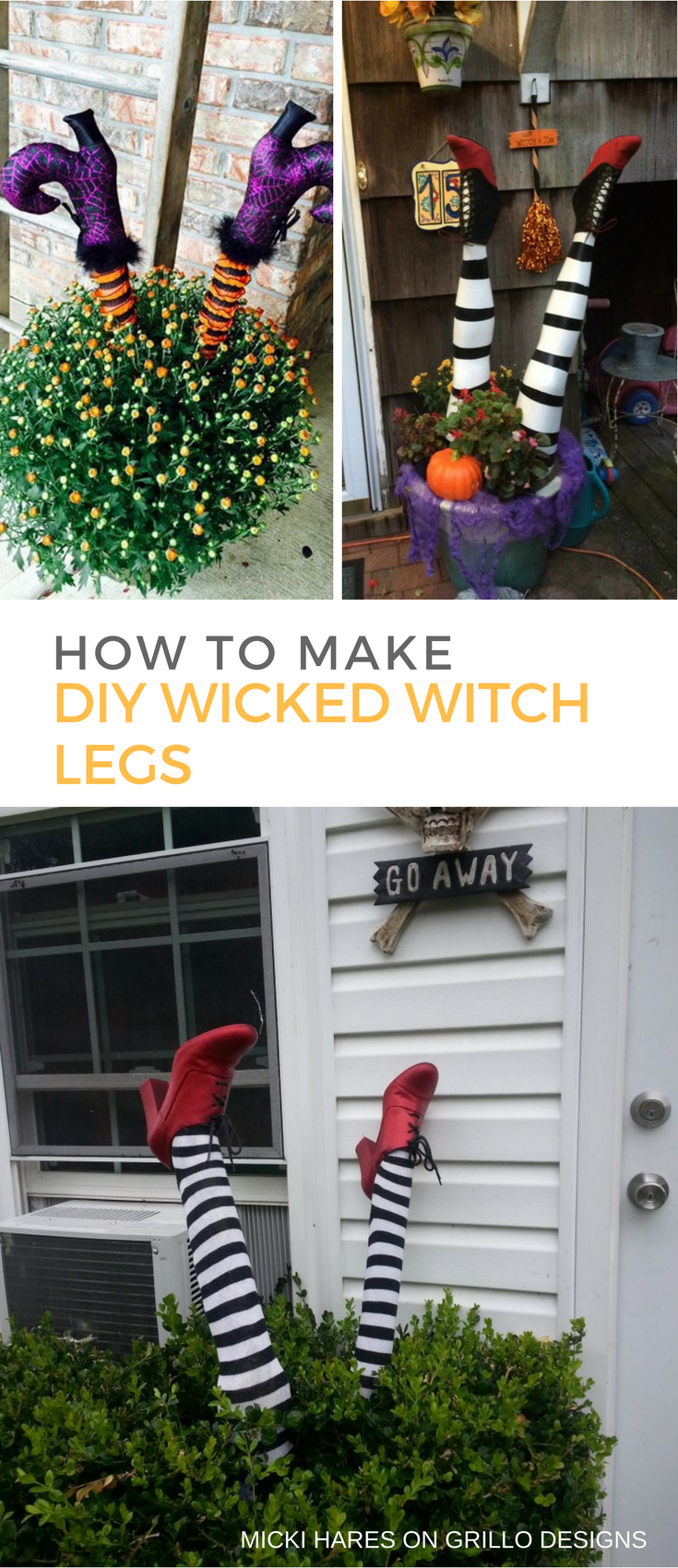 How To Make Wicked Witch Legs Grillo Designs