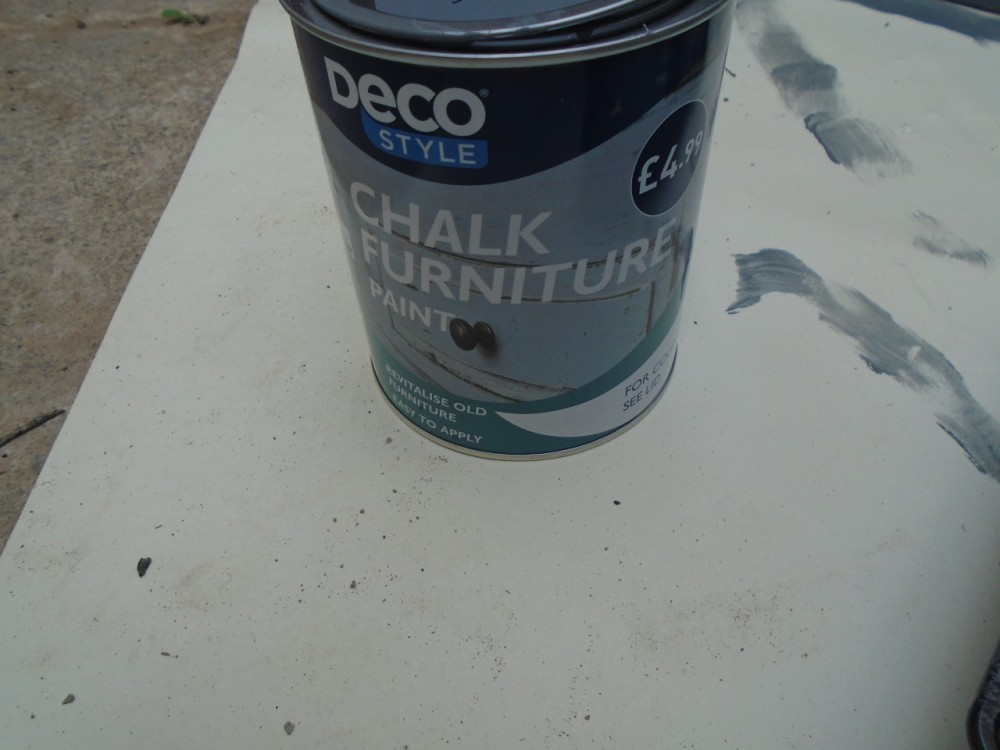 The chalk paint