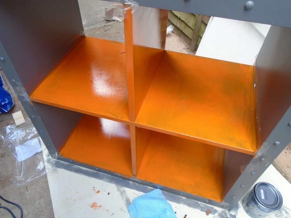 Paint inside orange