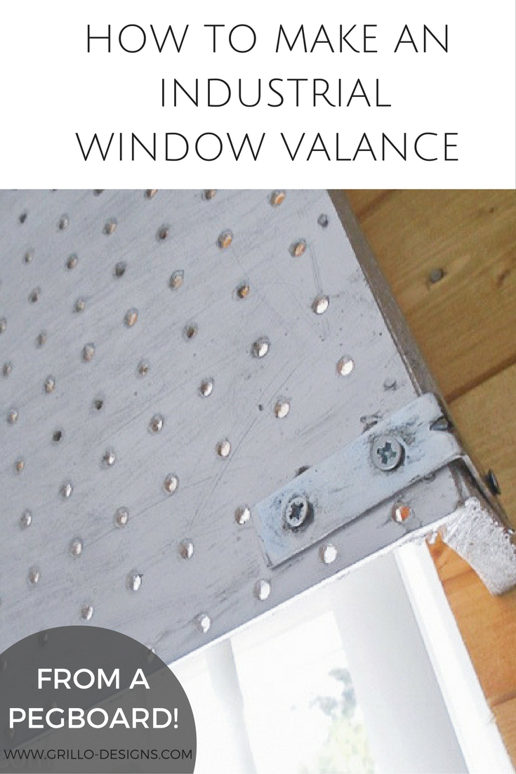 How to Make an Industrial Window Valance