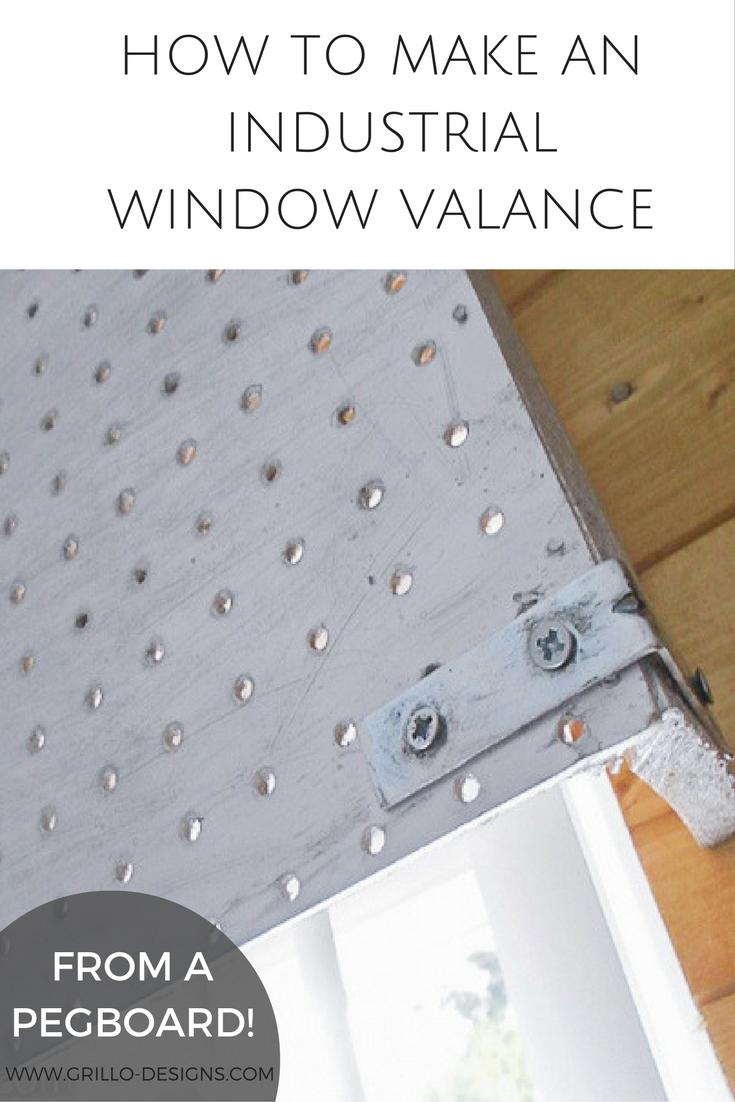 DIY Industrial Window Valance • Grillo Designs