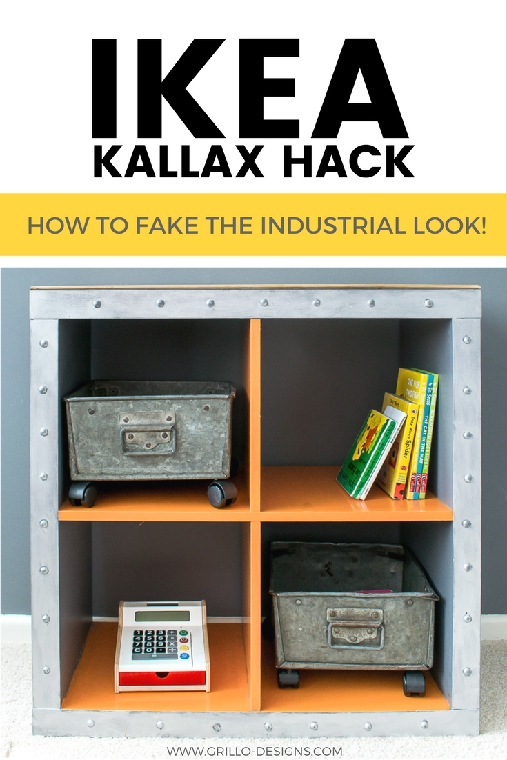 IKEA KALLAX HACK - TRANSFORM THE EPEDIT CUBE INTO AN INDUSTRIAL STORAGE BOX / GRILLO DESIGNS WWW.GRILLO-DESIGNS.COM