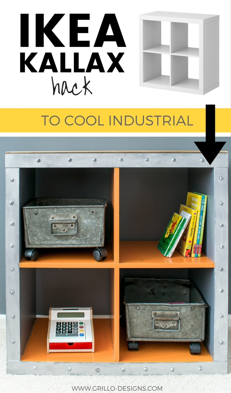 IKEA KALLAX HACK - TRANSFORM THE IKEA KALLAX/EXPEDIT INTO INDUSTRIAL STORAGE/ grillo designs www.grillo-designs.com
