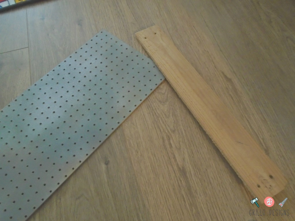 INDUSTRIAL WINDOW VALANCE Materials Pegboard and board