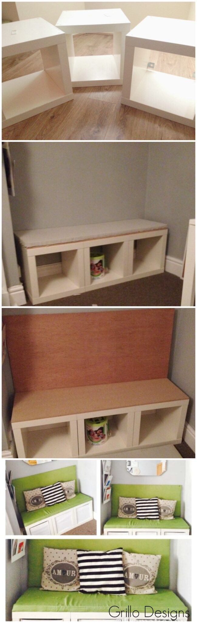 Ikea expedit cube seating how to
