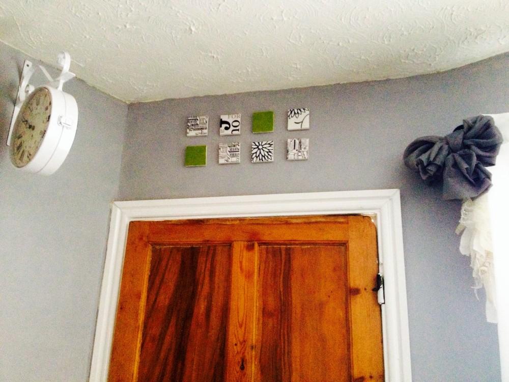 Above the door