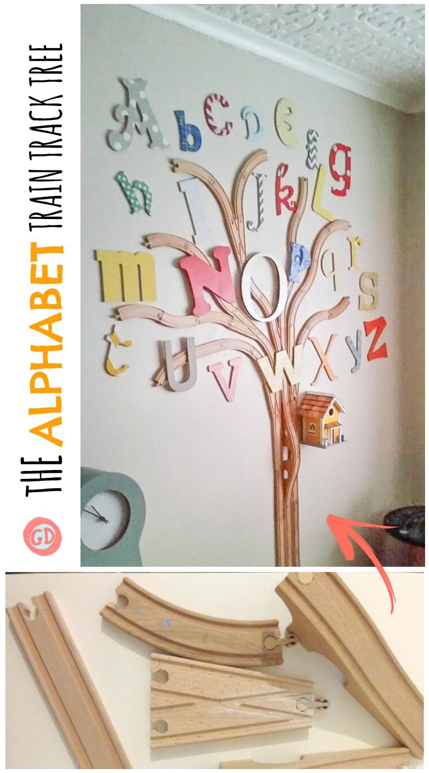 The Alphabet Train Track Tree Tutorial