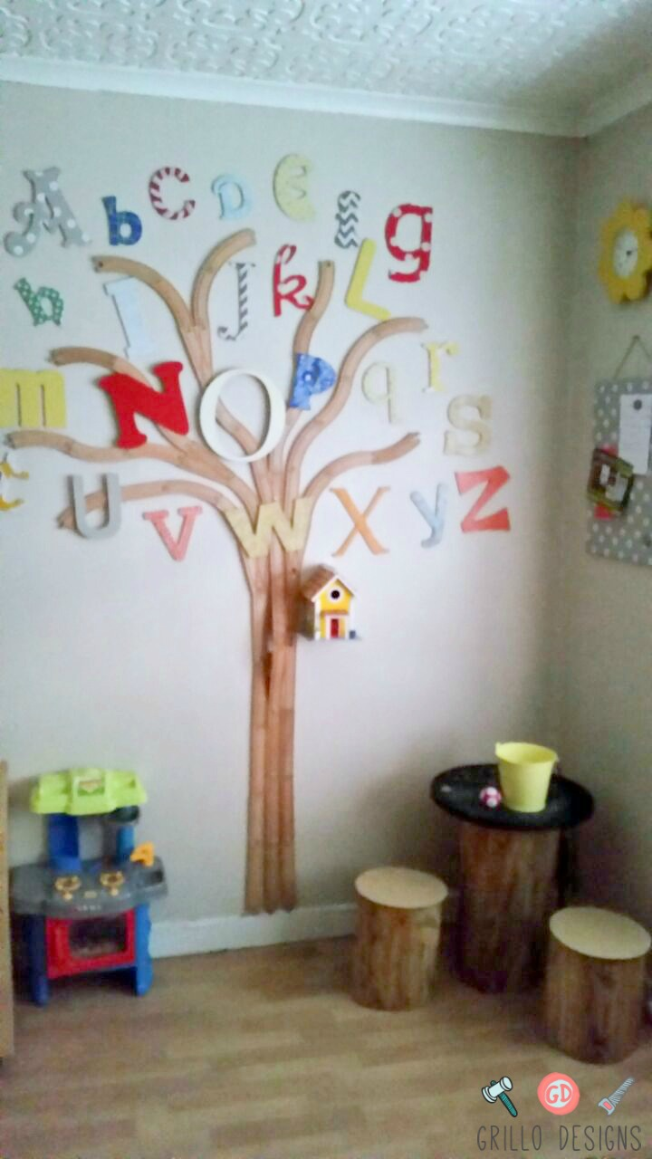 The Alphabet Train Track Tree Grillo Designs