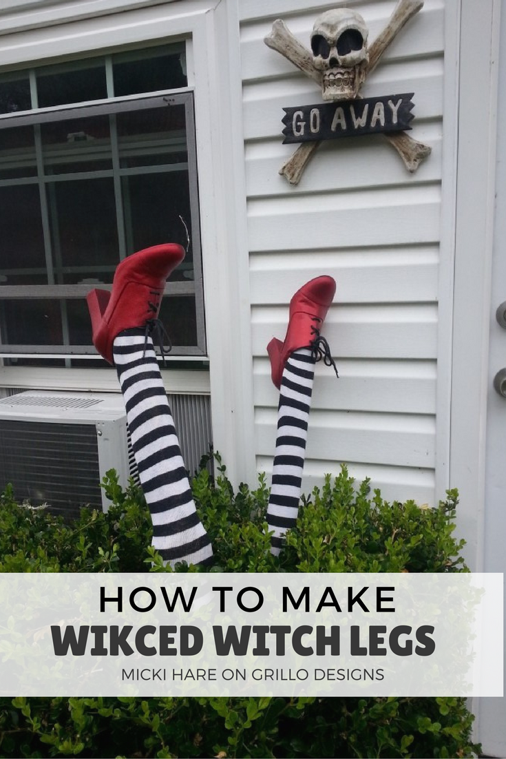How To Make Wicked Witch Legs