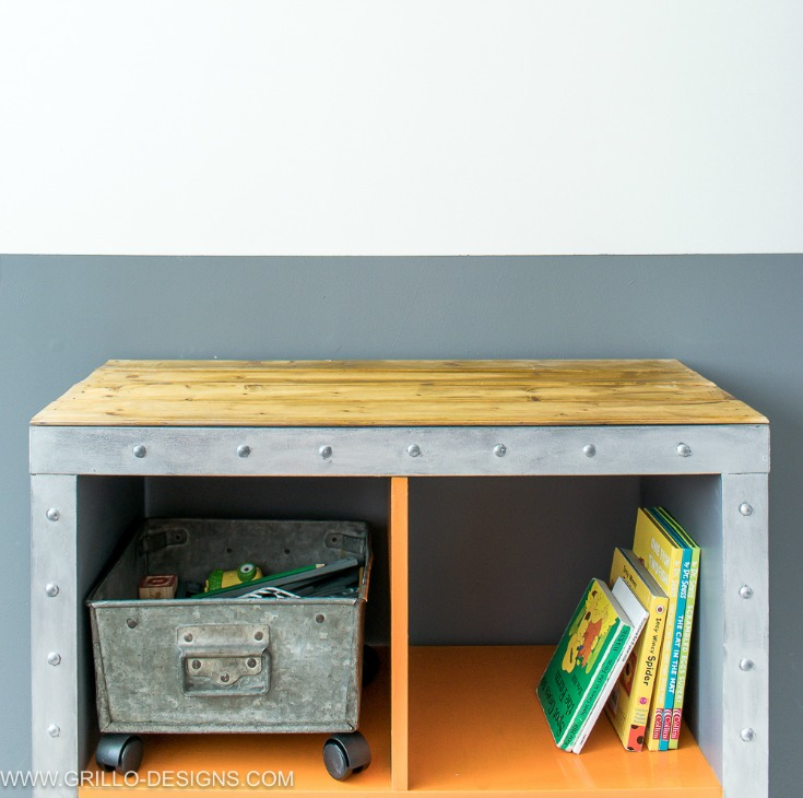 Ikea kallax hack  IKEA KALLAX Hack - Industrial Storage For A Boys Bedroom • Grillo ...