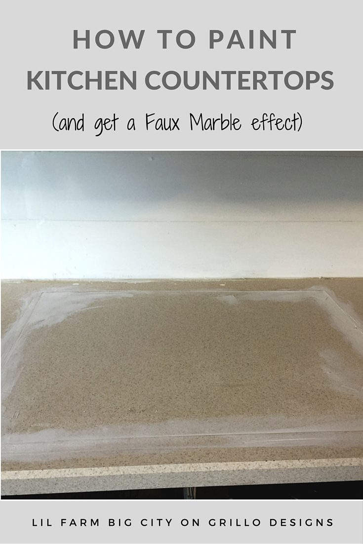 How To Paint Kitchen Countertops (and get the faux marble effect!)