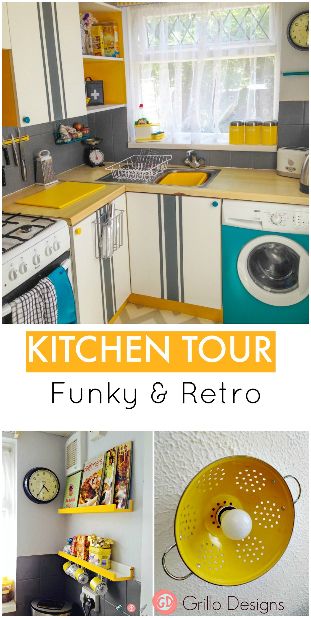 Funky Kitchen Kitchen Reveal Funky Retro O Grillo Designs