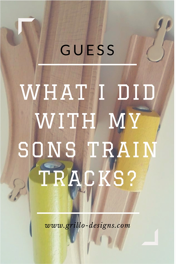 Find out what I did with my sons old train tracks here!