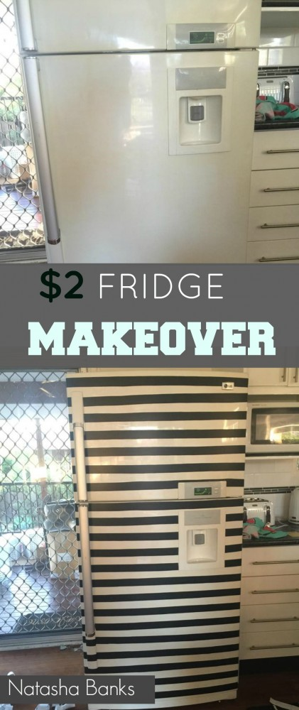 $2 fridge makeover by natasha banks