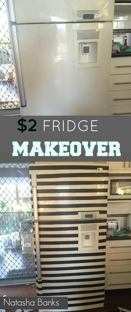 $2 fridge makeover by natasha banks