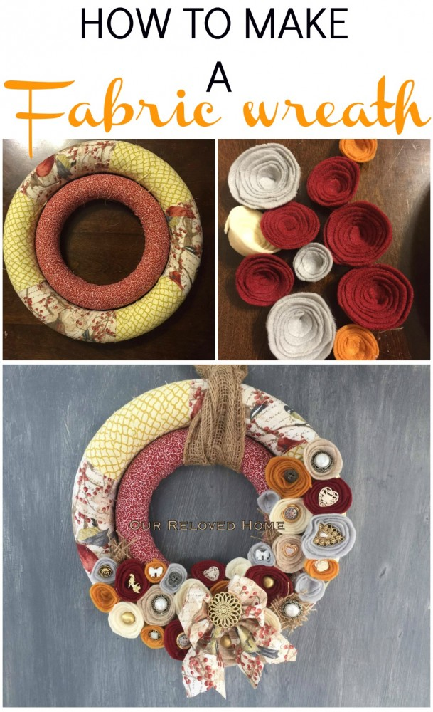 HOW TO MAKE A Fabric Wreath