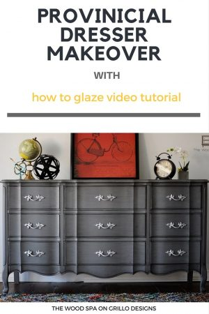 easy tutorial on how to glaze furniture / Grillo Designs www.grillo-designs.com