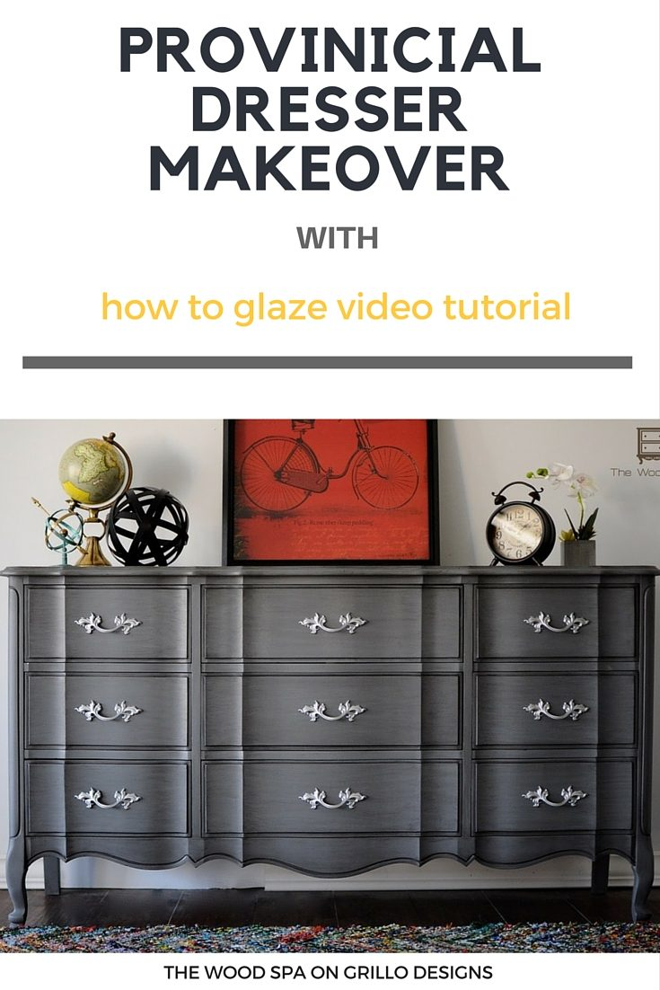 how to get the glazed effect in this dresser