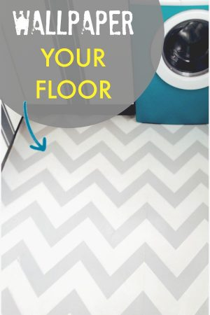 HOW TO WALLPAPER YOUR FLOOR
