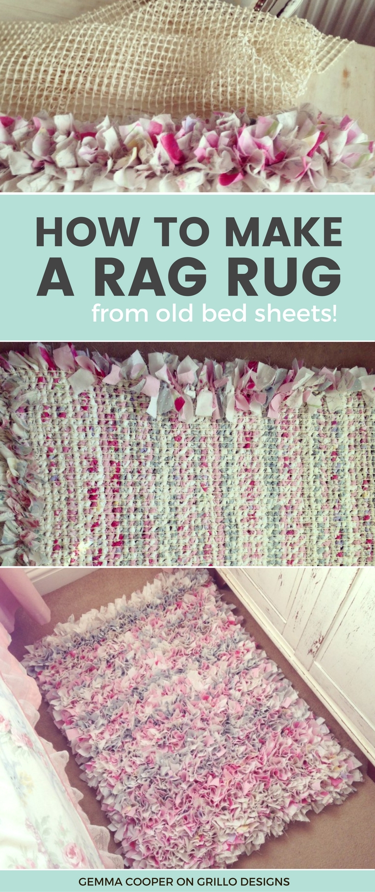 How to make a diy rag rug using old bedding for How to make simple crafts at home