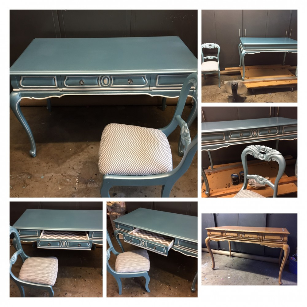 French Provincial Desk and Chair