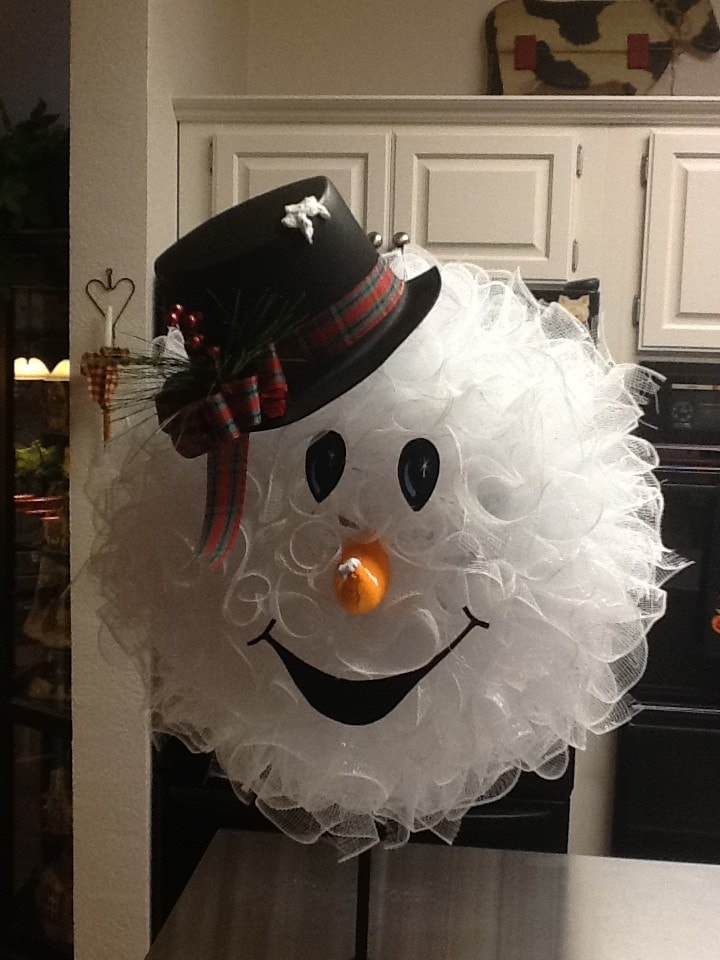 easy- diy-Snowman- Wreath