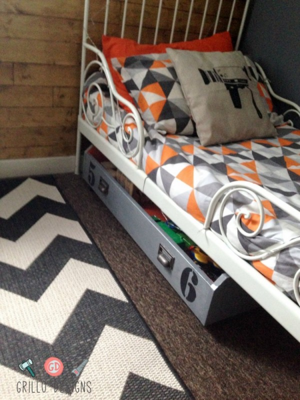 Diy underbed storage