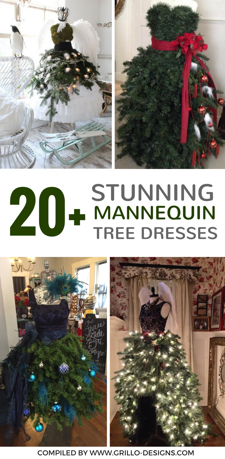 20+ Stunning DIY Mannequin Tree Dress