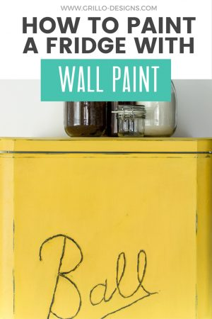 How to paint a fridge with wall paint