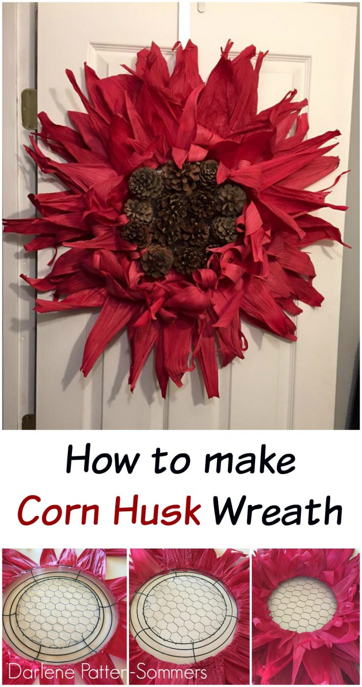 how to make a corn husk wreath