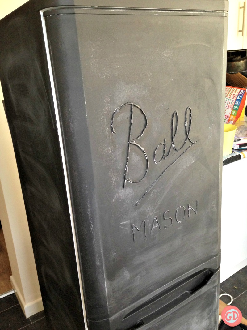 DIY PAINTED FRIDGE