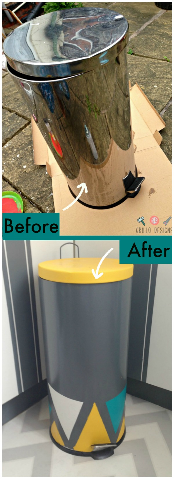 trash can makeover