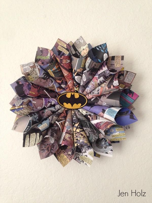 diy comic book wreath