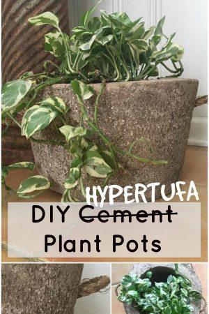 hypertufa plant pot tutorial/ Grillo Designs www.grillo-designs.com