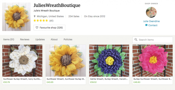 Buy a handmade daisy wreath from Julies Wreath Boutique / Grillo Designs www.grillo-designs.com