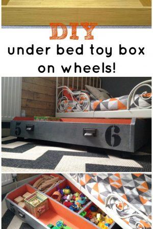 TOY STORAGE ORGANIZATION WITH A DIY UNDER BED PULL OUT BOX / GRILLO DESIGNS WWW.GRILLO-DESIGNS.COM