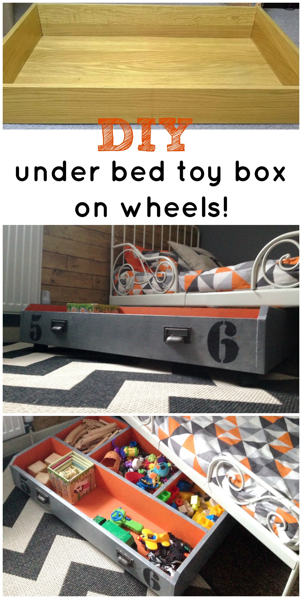 Diy underbed toy storage ikea hack from the ikea PAX drawer