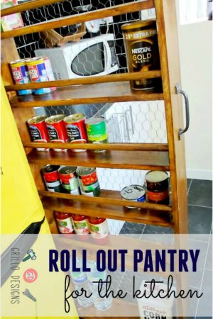 DIY KITCHEN ORGANIZATION TIPS - BUILD A ROLL OUT PANTRY/ GRILLO DESIGNS WWW.GRILLO-DESIGNS.COM