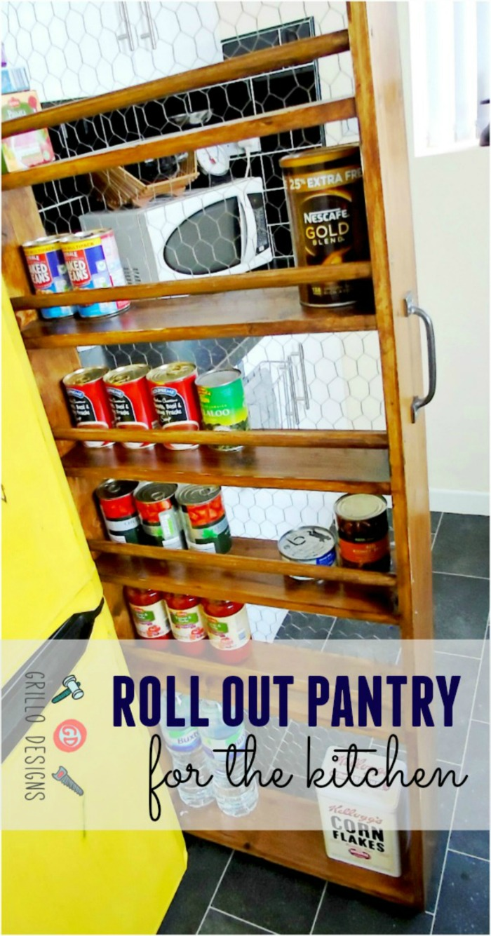 DIY Roll Out Kitchen Pantry
