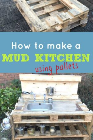 How to make a wooden pallet mud kitchen / Grillo Designs www.grillo-designs.com