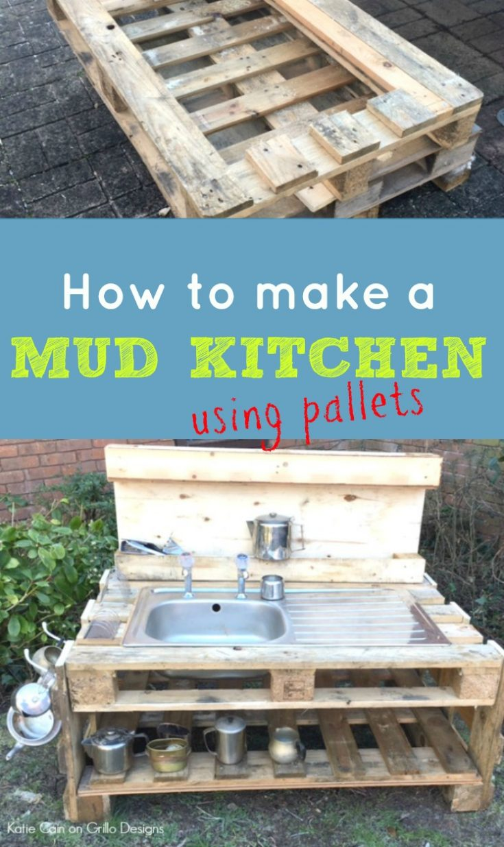 Diy kids mud kitchen grillo designs for How to create a kitchen
