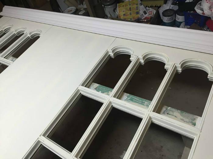 Door frame to head board