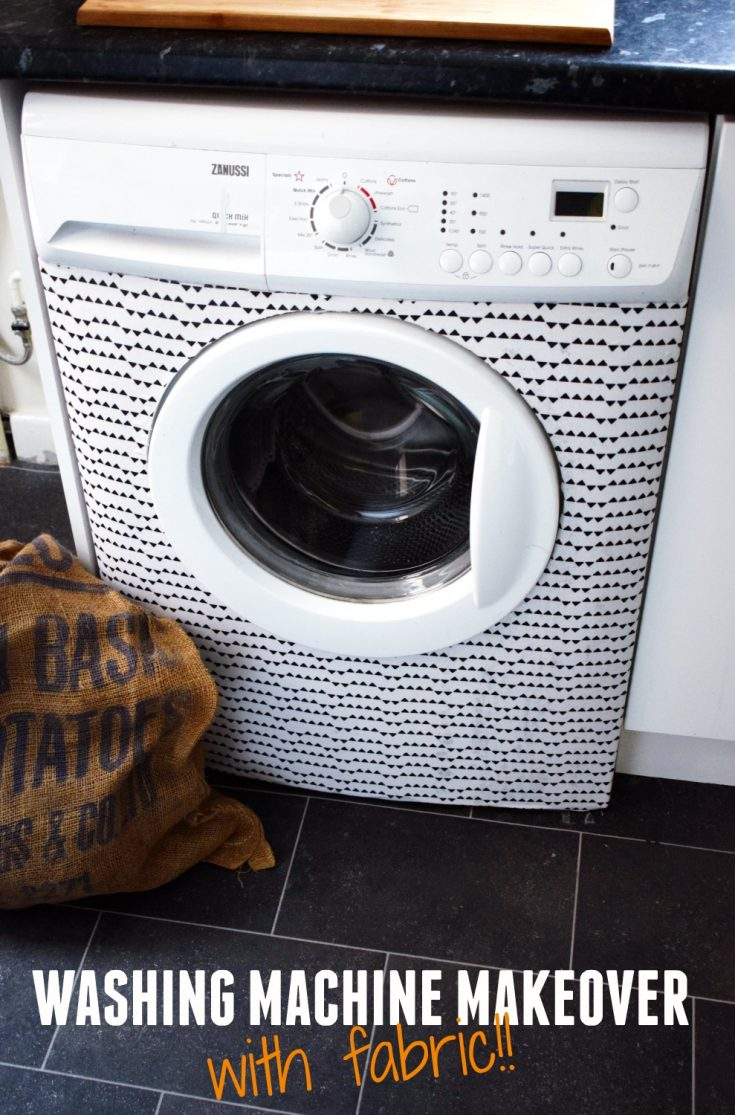 Washing machine makeover with fabric