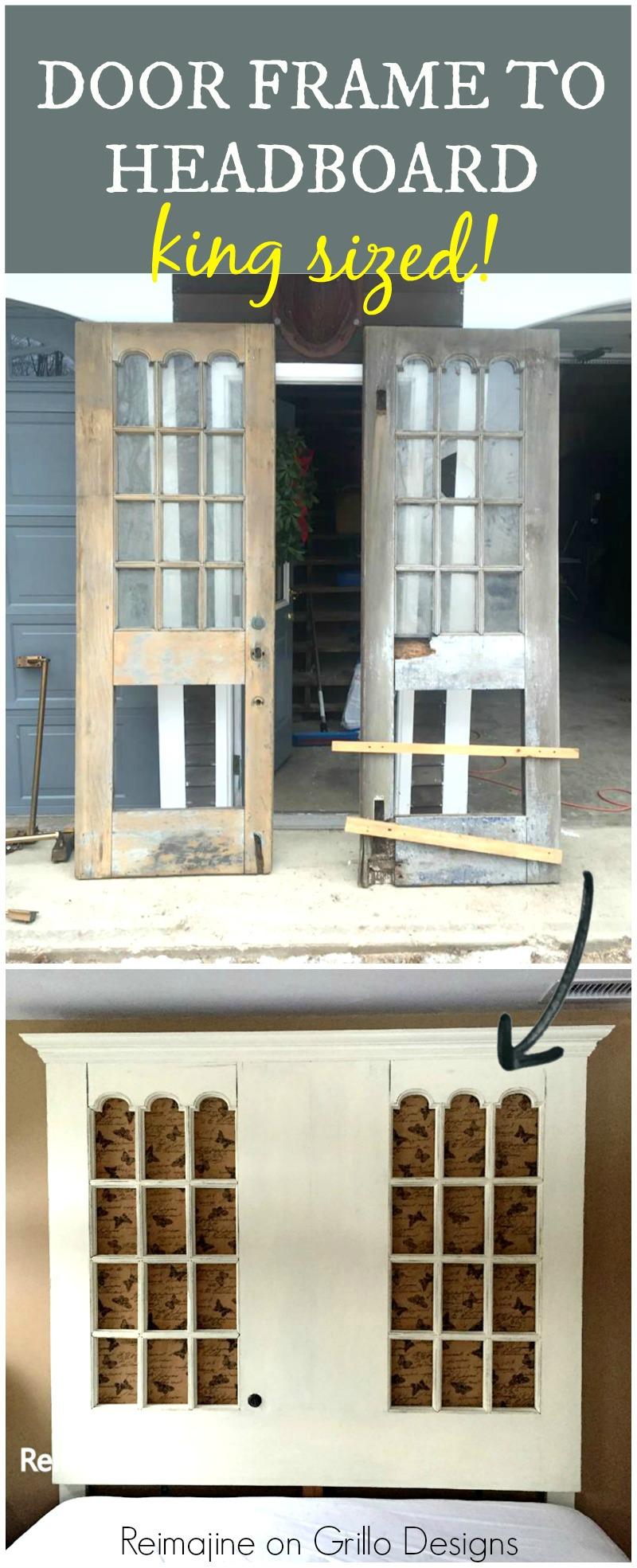 Door frame to head board pinterest