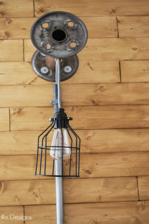 .DIY INDUSTRIAL METAL BOBBIN LIGHT HANGING / WWW.GRILLO-DESIGNS.COM