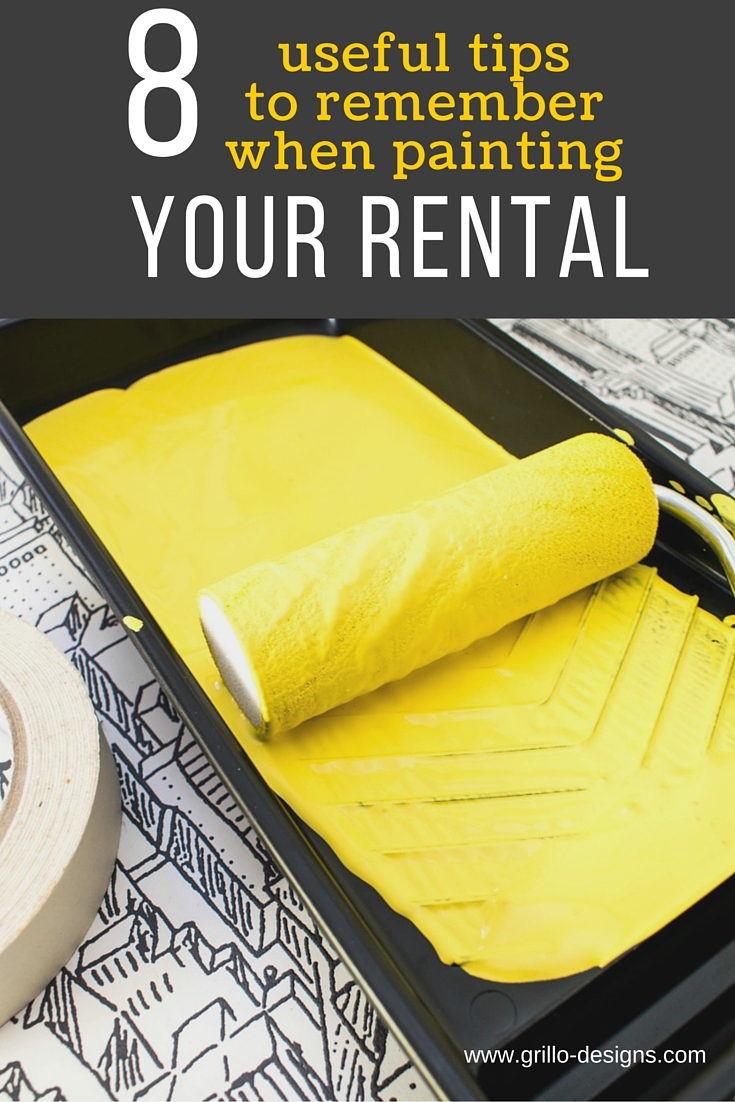 8 useful tips to remember when painting your rental