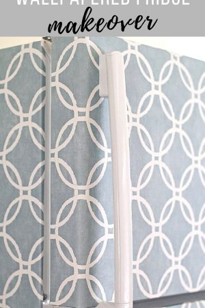 How to Wallpaper your fridge the easy way / grillo designs