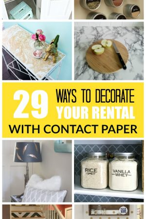 29 ways to decorate your rental with contact paper / grillo designs