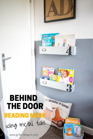 DIY KIDS READING NOOK (BEHIND THE DOOR)